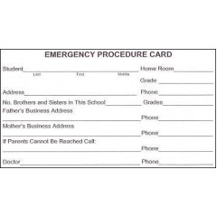 101 - Emergency Procedure Card